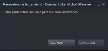 definir opciones de lanzamiento en counter strike global offensive